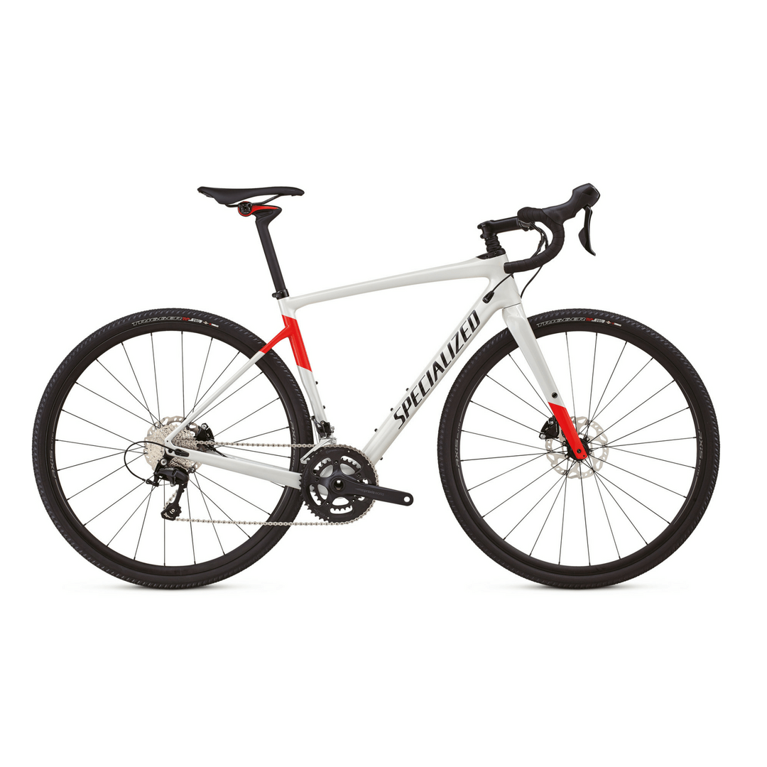 Specialized Diverg White Carbon Comp Bike Rental