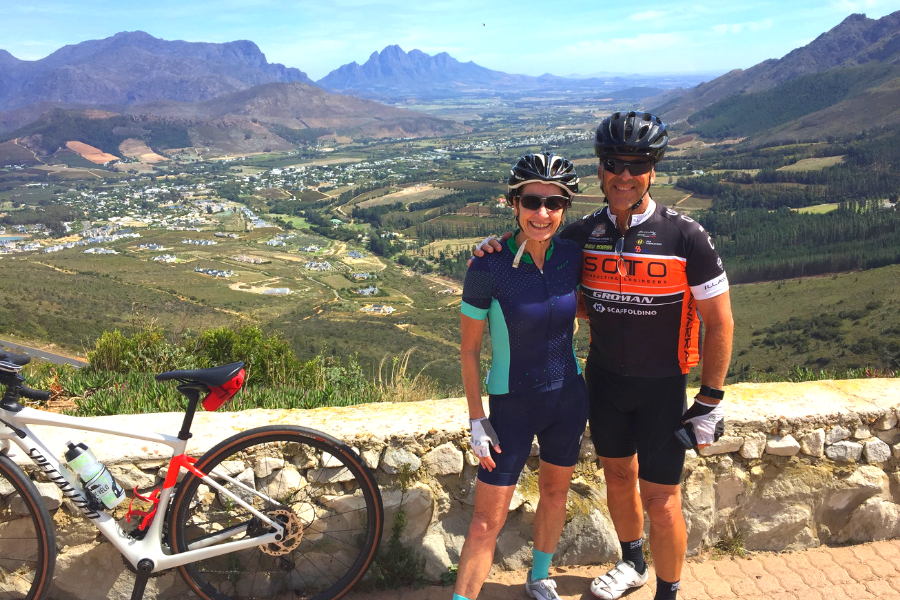 View from Helshoogte Cape Winelands Road Cycle Tour